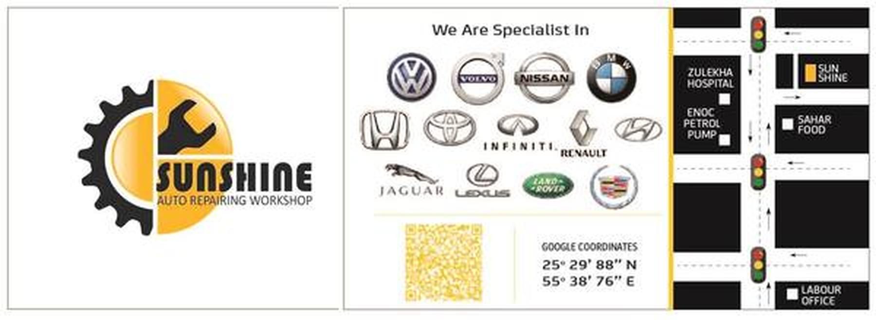 Car Repair & Service Workshop Sunshine Auto Repair Supplier in